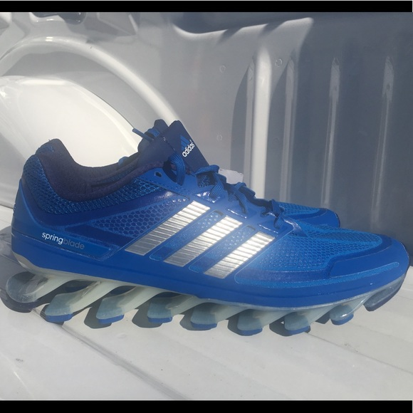 buy online 4bbb9 e5539 Adidas Springblade Drive Blue Running Rare size 12 NWT